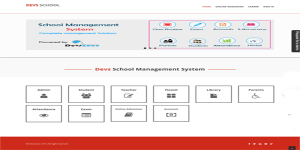 School Management System Devszone